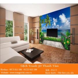 Gạch 3D Phòng Khách -T2123