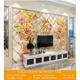 Gạch 3D Phòng Khách -T1190